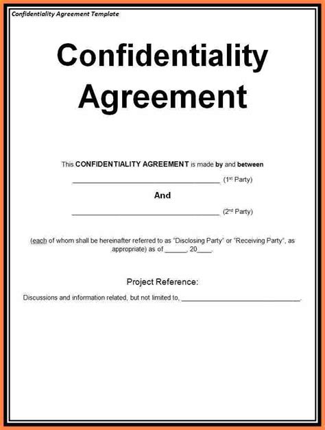 Non Disclosure Agreement Letter Of Intent 10 confidentiality agreement template south africa