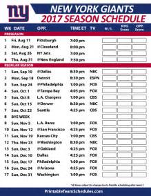 giants home schedule nfl schedule grid for season autos post