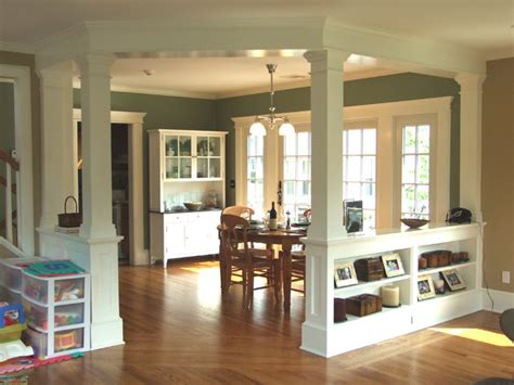 Small Cottage Kitchen Design Ideas low walls interior columns
