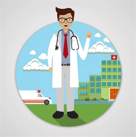 Background Check On Doctors Doctor Icon Hospital Background Colored Design Free Vector In Adobe