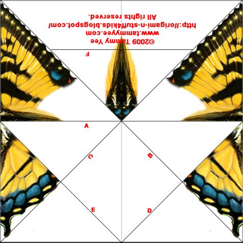 Printable For Origami - origami n stuff 4 tiger swallowtail butterfly