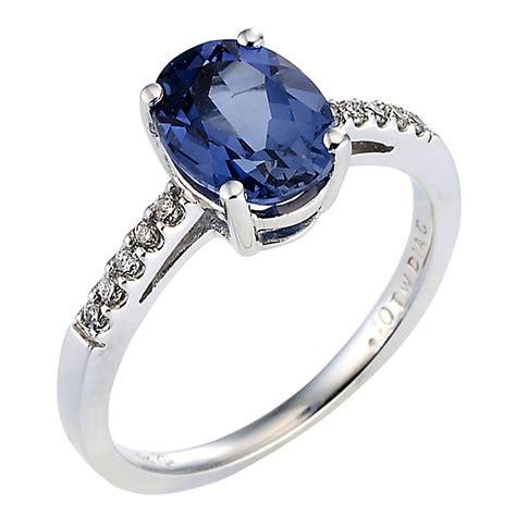 Blue Sapphire 2 9ct 9ct white gold created sapphire ring ernest jones