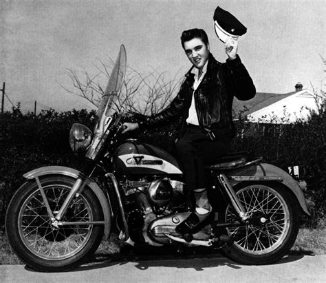 elvis presley harley davidson motorcycle display