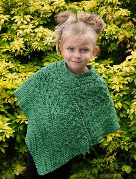 aran childrens knitting patterns cable knit aran poncho