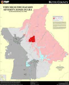 cal butte county fhsz map