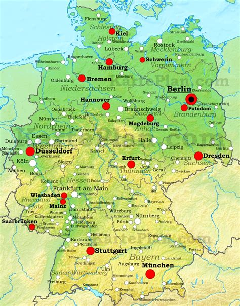 map of deutschland germany germany physical map