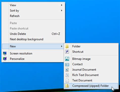 how can i create a compressed windows 8 folder ask dave