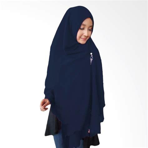 jual milyarda hijab oki panjang kerudung syari biru