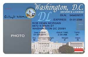 Tennessee Drivers License Template by Washington Dc Driver S License Editable Psd Template