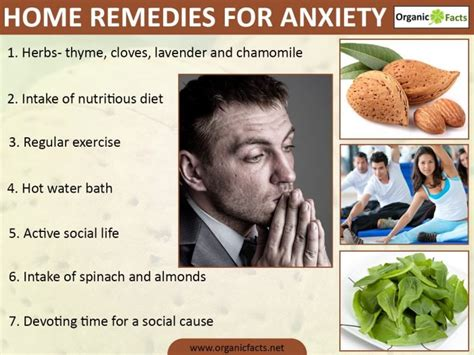 home remedies for anxiety organic facts
