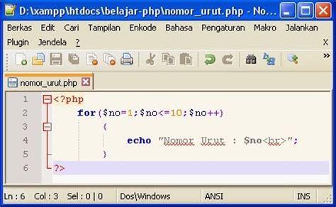 membuat nomor halaman pada php membuat nomor urut dengan php belajar program php