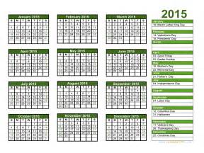 free 2015 calendar template with holidays 2015 calendar blank printable calendar template in pdf