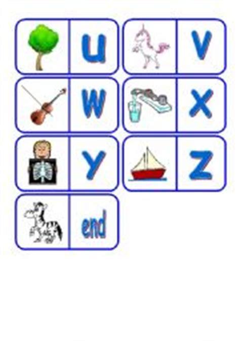 printable alphabet dominoes english teaching worksheets domino