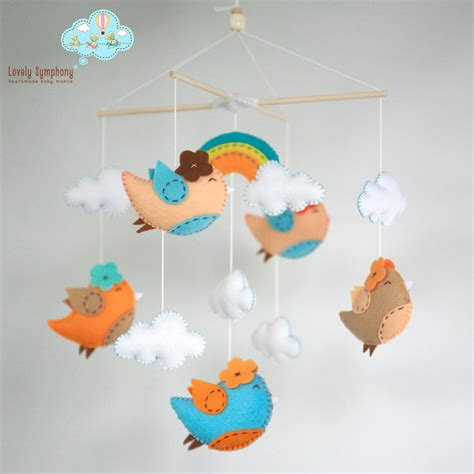 Baby Ceiling Mobile by Miami Birds Birds Baby Crib Mobile Birds Hanging Mobile