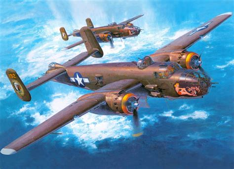 download image b 25 mitchell pc android iphone and ipad wallpapers art plane north american b 25j mitchell medium bomber twin