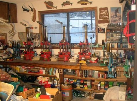 best reloading bench layout old man reloading room preppers ammo stockpile reloads