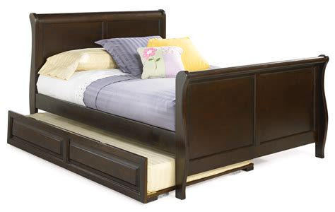 Beds by size full trundle beds sleigh bed includes trundle