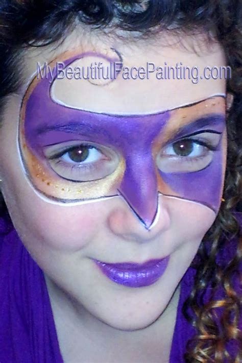 purple and gold mardi gras mask in paint painting my beautiful painting