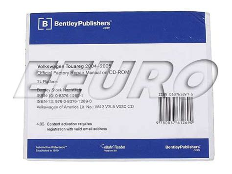 how to download repair manuals 2007 volkswagen touareg on board diagnostic system volkswagen cd rom repair manual touareg bentley v7l5 free shipping available