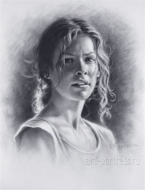 how to draw a portrait drawing a portrait of evangeline lilly by drawing