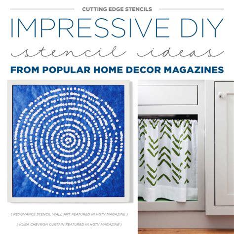 home decor stencils impressive diy stencil ideas from popular home decor