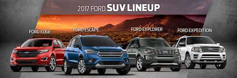Ford Suv Lineup by 2017 Ford Suv Lineup Sanderson Ford Az