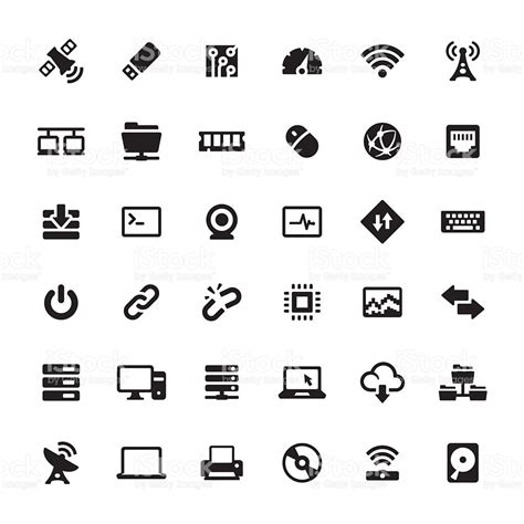 symbol for technology and computers vector symbols and icons stock
