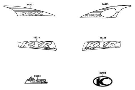Aufkleber Kymco Roller by Kymco Kxr 250 Aufkleber Ersatzteile