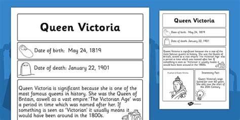 queen victoria biography ks2 exle queen victoria significant individual fact sheet fact sheet