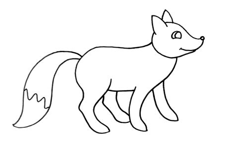 Imagenes De Un Zorro Para Dibujar Faciles | dibujo colorear 59 fox dibujo de animales para imprimir