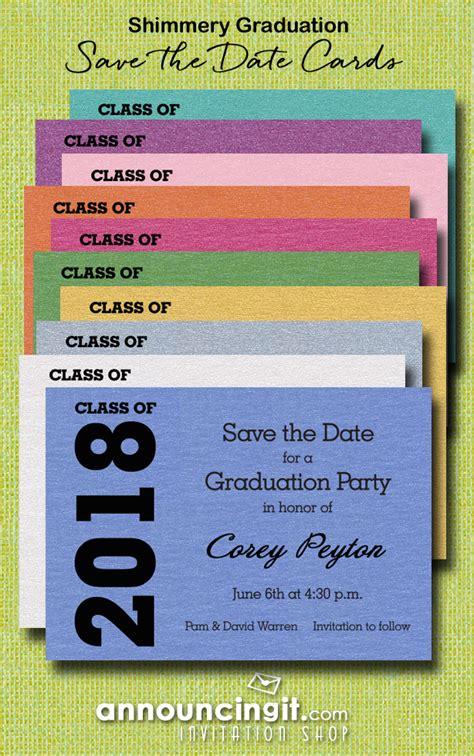 Class Of 2018 Graduation Date 2018 Graduation Save The Date Cards