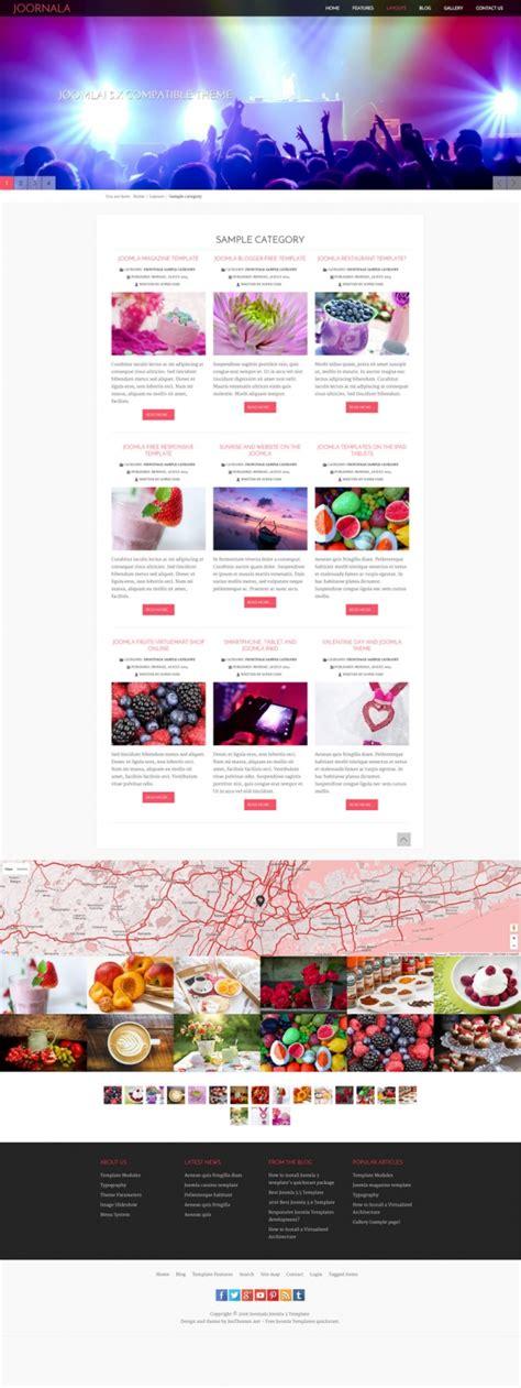 theme editor joomla joornala joomla 3 free responsive template joomla