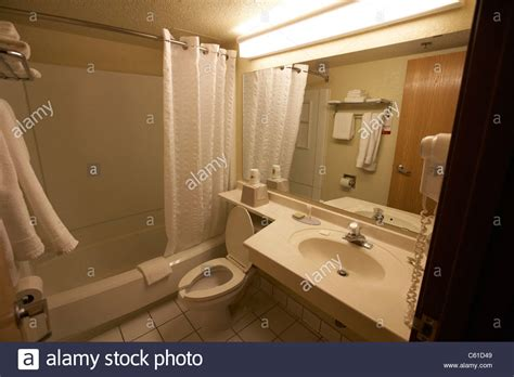 bathrooms in usa cheap hotel motel bathroom in the usa stock photo royalty