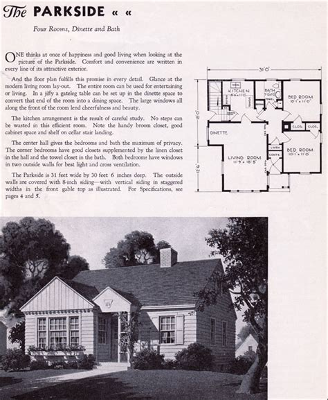 1940 houses designs 1940 gordon van tine homes the parkside such a cute starter or home to retire in