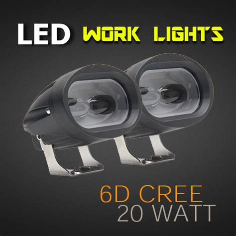 Lu Led Cree 20 Watt Led Work Light 3 8 Inch 20 Watt Cree Heavy Duty Pro Quality