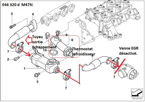 [ Bmw E46 320d M47N an 2002 ] conduite du refroidisseur d