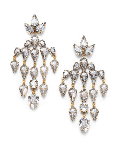 Erickson Beamon Swarovski Crystal Velocity Chandelier Swarovski Chandelier Earrings