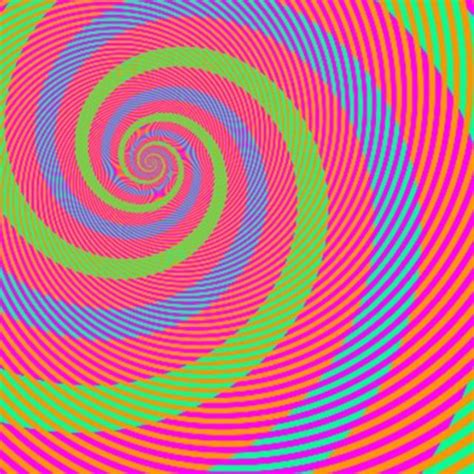 how many colors can you see this spiral optical illusion reveals how your work