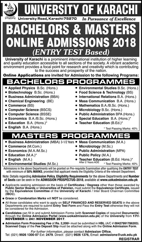 Evening Mba Programs In Karachi by Admissions Page