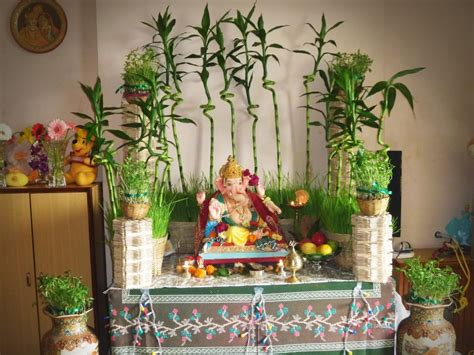 ganpati decoration at home decoration ideas for ganesh chaturthi at home festivals