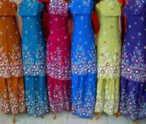 Mukena Bali Lukis Murah mukena bali lukis floral warna mukbal santung murah