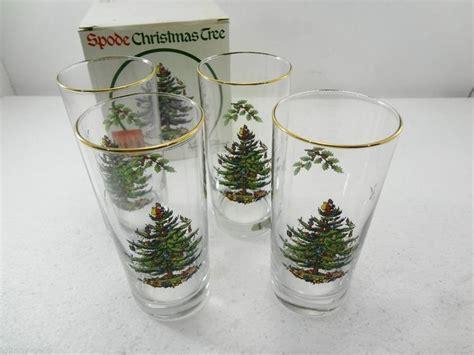 spode glasses spode tree set of 4 highball glasses gold 6