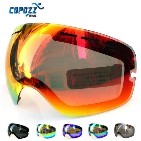 Copozz Kacamata Ski Anti Fog Uv400 Protection Gog 207 Lens For Ski Goggles Copozz Gog 201 Anti Fog Uv400 Large Spherical Ski Glasses Snow Goggles