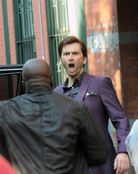david tennant purple suit krysten ritter david tennant and mike colter featured in