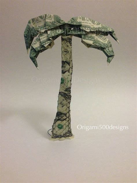 Origami Dollar Bill Tree - one beautiful handcrafted money origami palm tree money