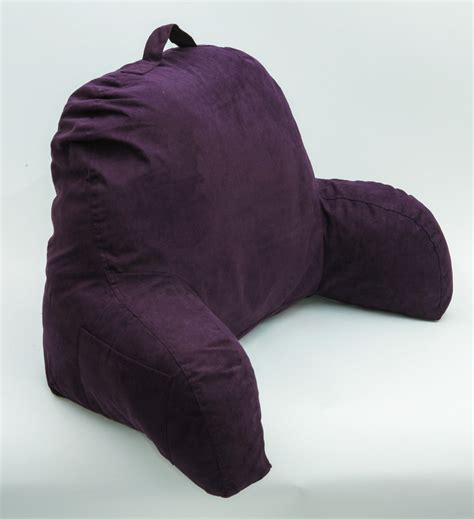 purple bedrest reading pillow bed back support watch tv