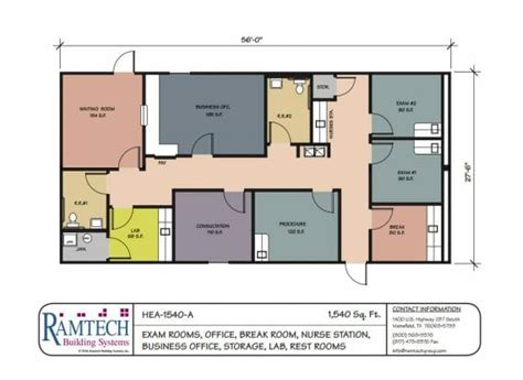 general physical layout of work space medical floorplans ramtech