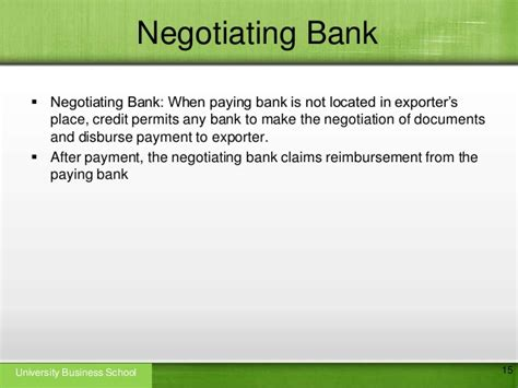 How To Negotiate Letter Of Credit With Bank letter of credit