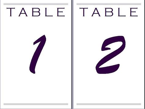 table number templates for word paper eeyore4771