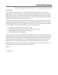 Baker Cover Letters by Best Baker Cover Letter Exles Livecareer